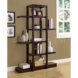 Cappuccino 71H Open Concept Display Etagere