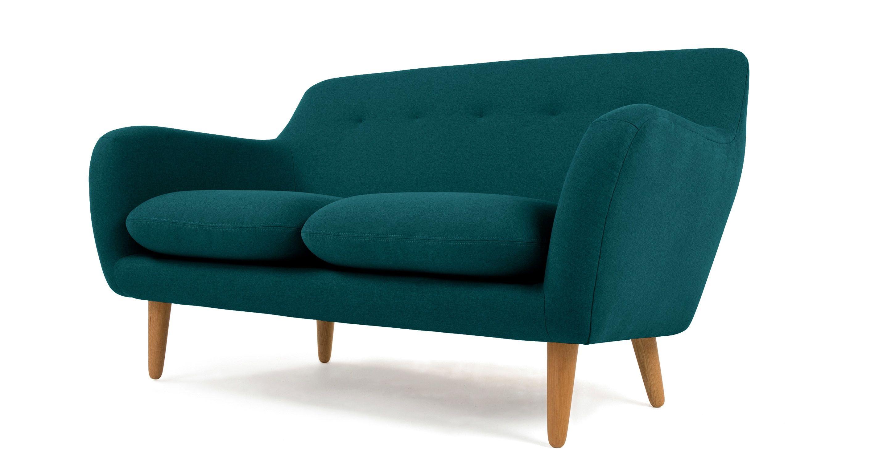Jonah 2 Seater Sofa in ale brown premium leather