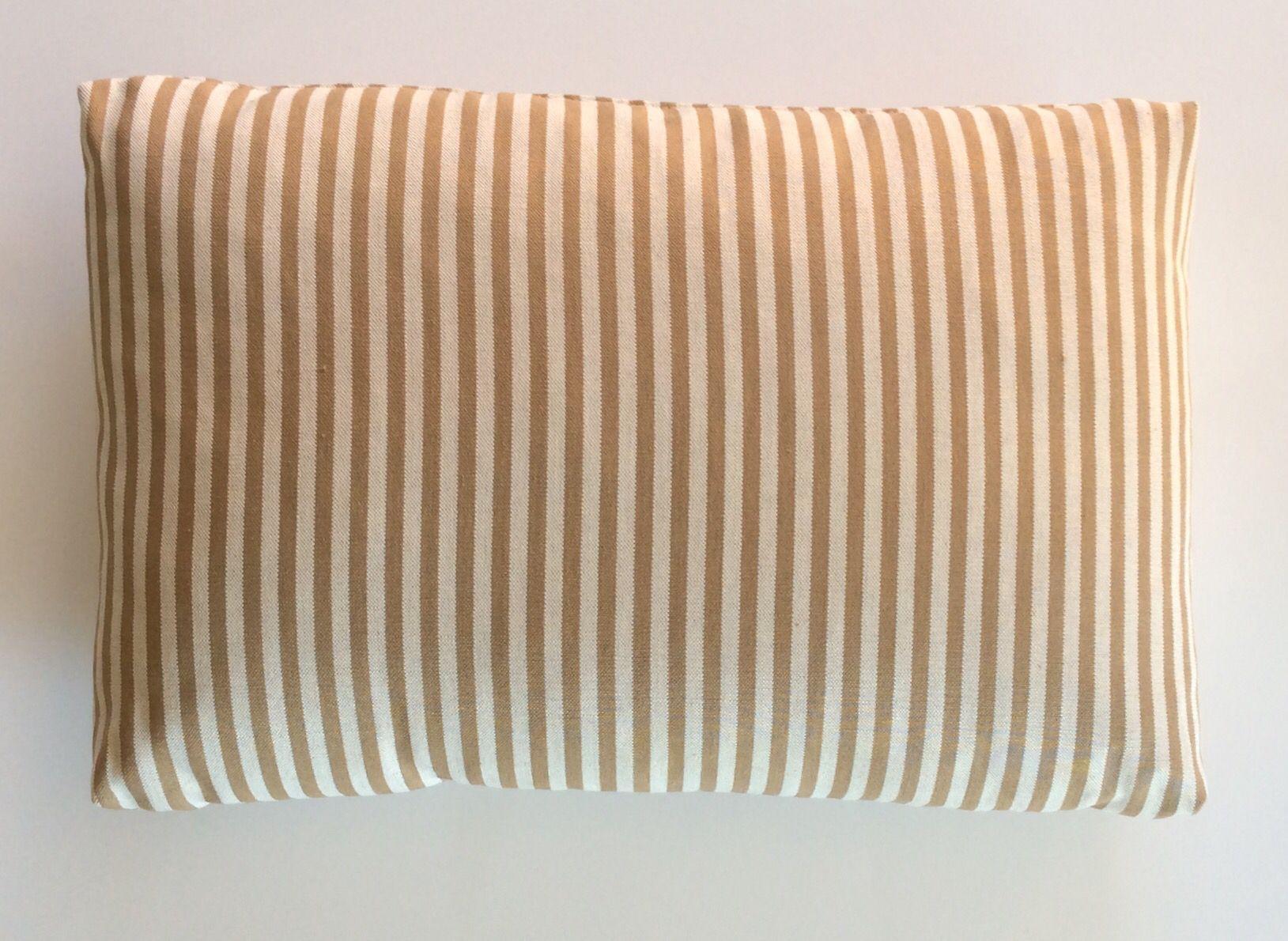 Cuscini Righe.Cuscino Con Rivestimento In Lino Colore Bianco Con Righe Tortora