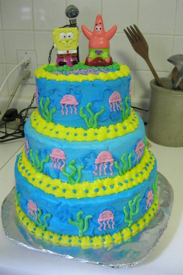 Alexs spongebob cake Spongebob cake birthday cake Cakes