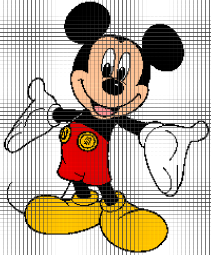 Image Result For Free Mickey Mouse Crochet Blanket Patterns