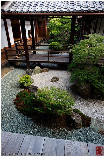 Inner zen garden at the Kanchi-in temple in Kyoto Photograph by