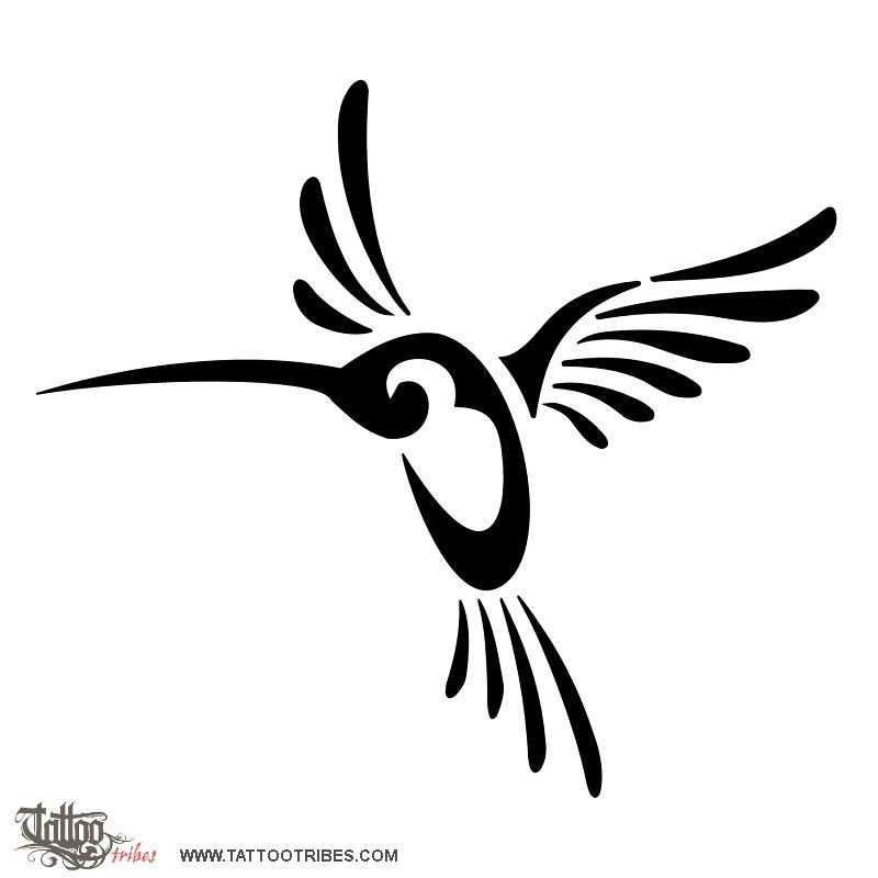 Humming bird like all the birds some more and some less for Freedom tribal tattoos
