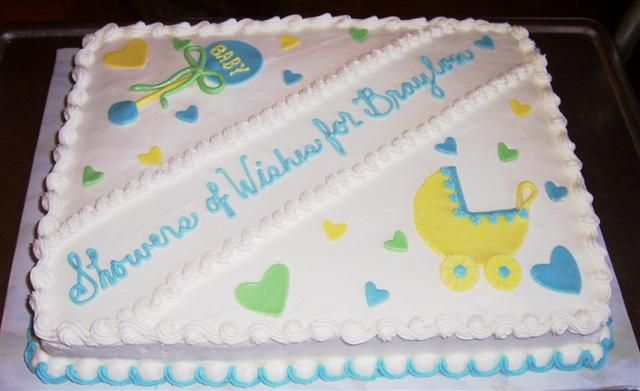Simple Baby Shower Cake Designs Baby Shower Bettycakes Photo
