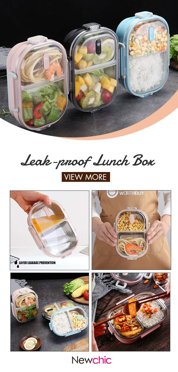 【50% off】Portable Leak-proof Lunch Box School Office Picnic 304 Stainless Steel Bento Box.#lunch #lunchbox #homedecor #bentoboxlunch