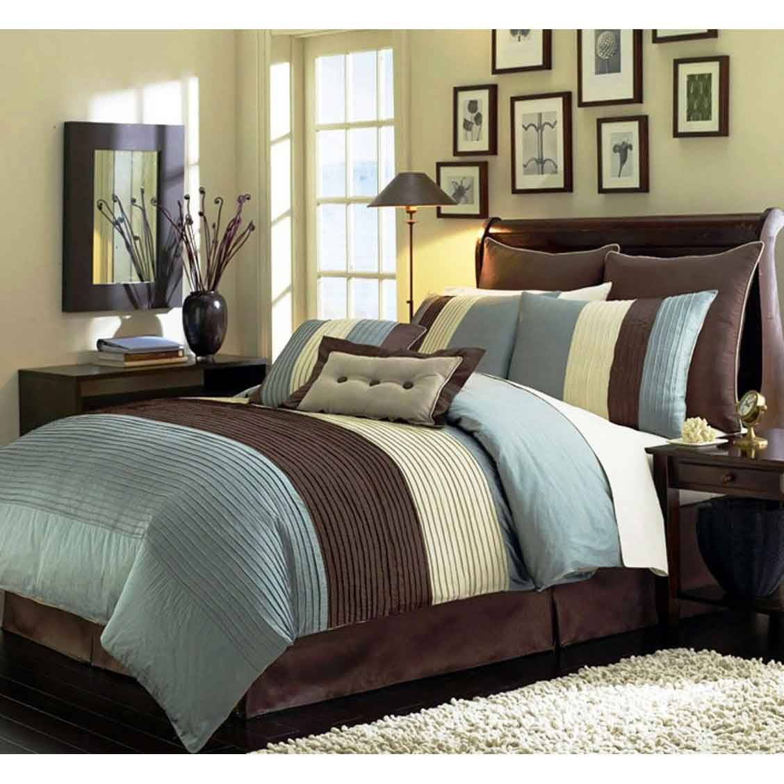 Best Black And White Check Boys Bedroom Blue Brown Bedroom 400 x 300