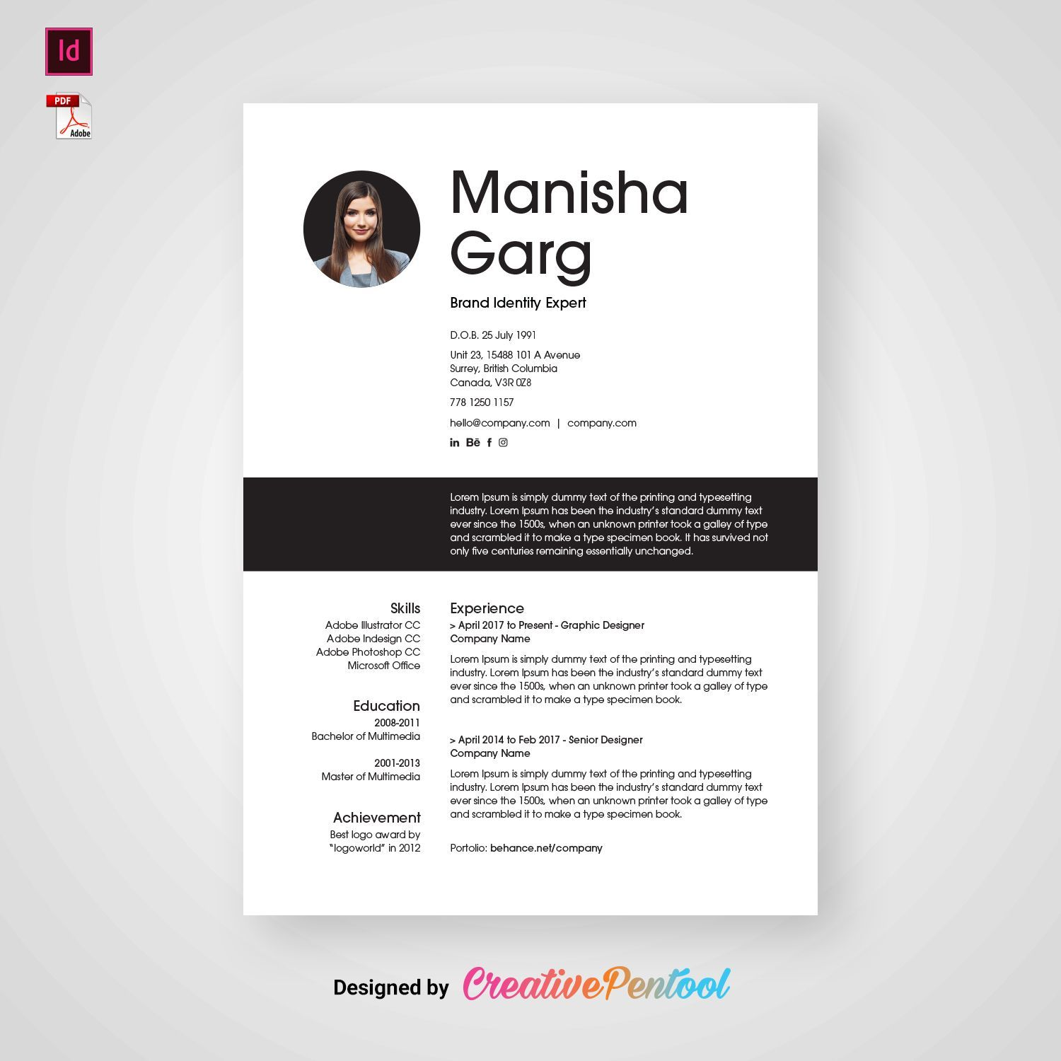 Download this template FREE. This professional resume