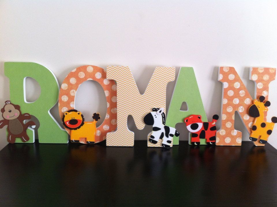jungle wooden letters safari nursery letters by babeecakesboutique 1200