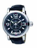#Gio Monaco Men's 814-F Crepacci Black Dial Luminous Leather Date Watch « Best Perfume Bonanza