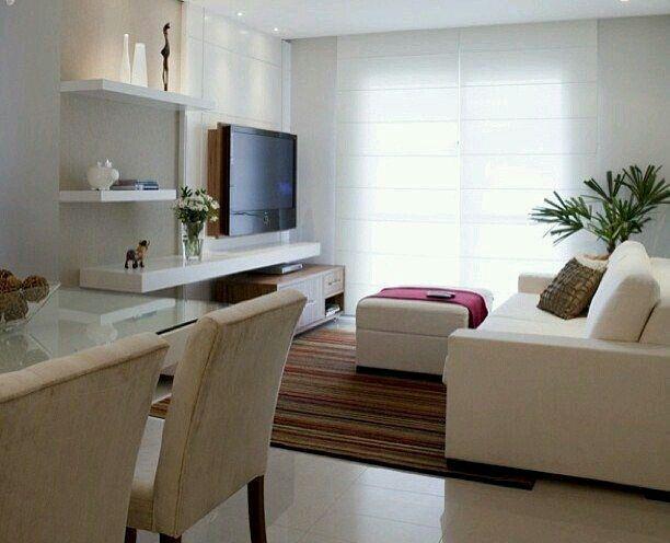 Luminoso sal n rectangular decoraci n y orden - Como decorar un salon comedor pequeno ...