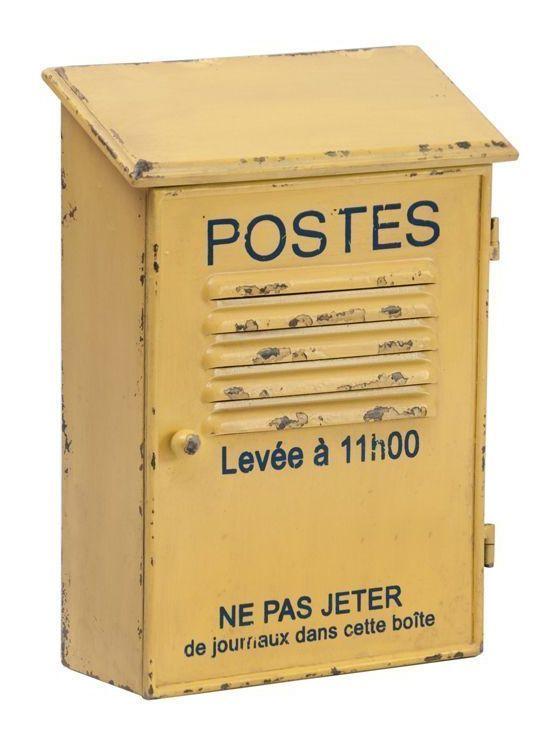 Antic line cr/éations Boite /à clefs Postes Jaune Antique