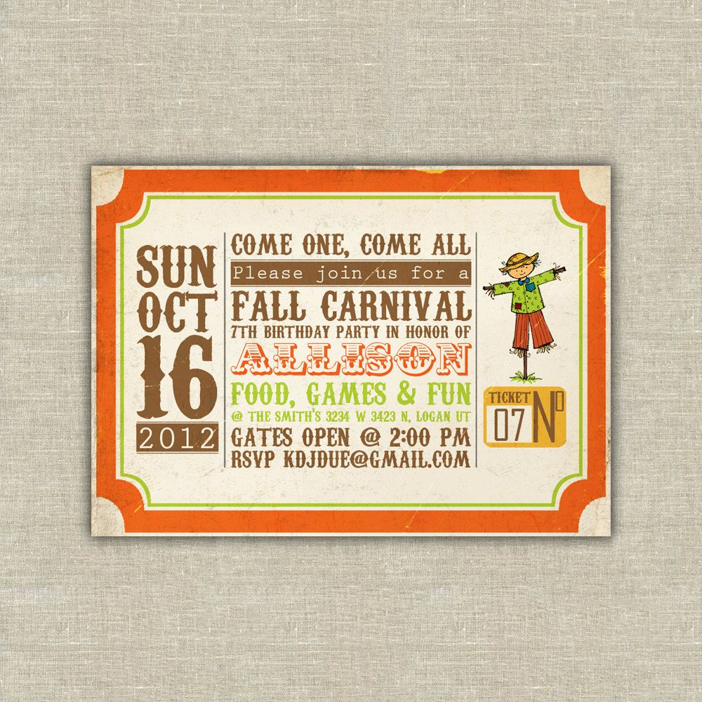 Printable digital file harvest party invitations scarecrow pumpkin printable digital file harvest party invitations scarecrow pumpkin fall autumn birthday kids school church halloween 2000 via etsy filmwisefo