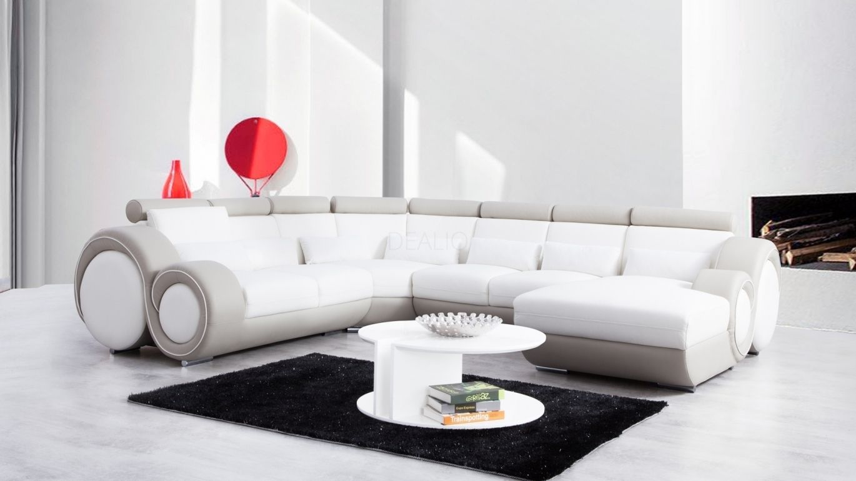 Unwind Leather Modular Lounge Option A Lounge Life White