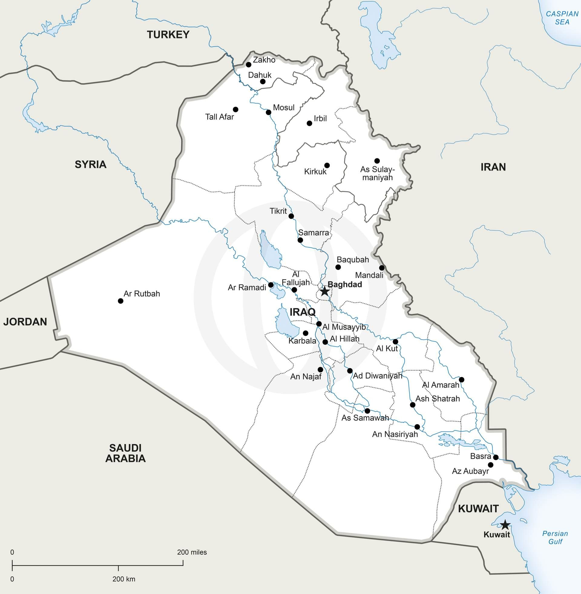 Map of Iraq political | C | Map vector, Map, Asia map