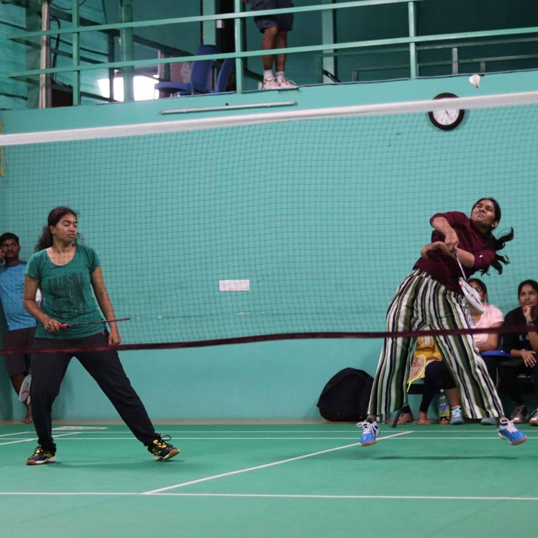 badminton practice tournament doubles winner game