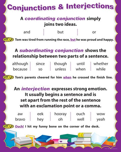 conjunctions & interjections | Learning/Language Arts | Pinterest ...
