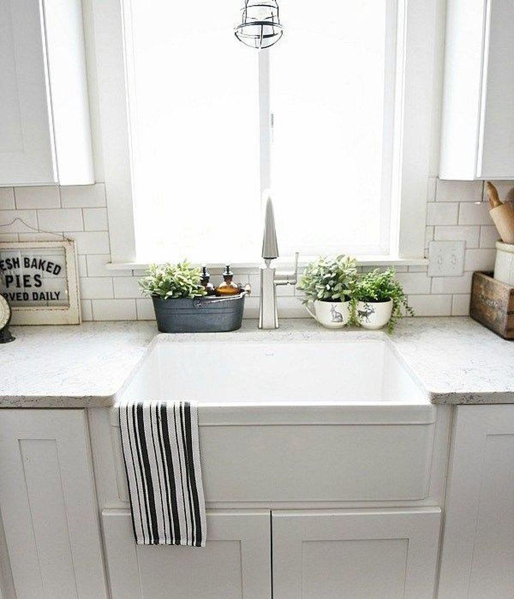 48 Stylish Modern Farmhouse Kitchen Sink Ideas Farmhouse Sink