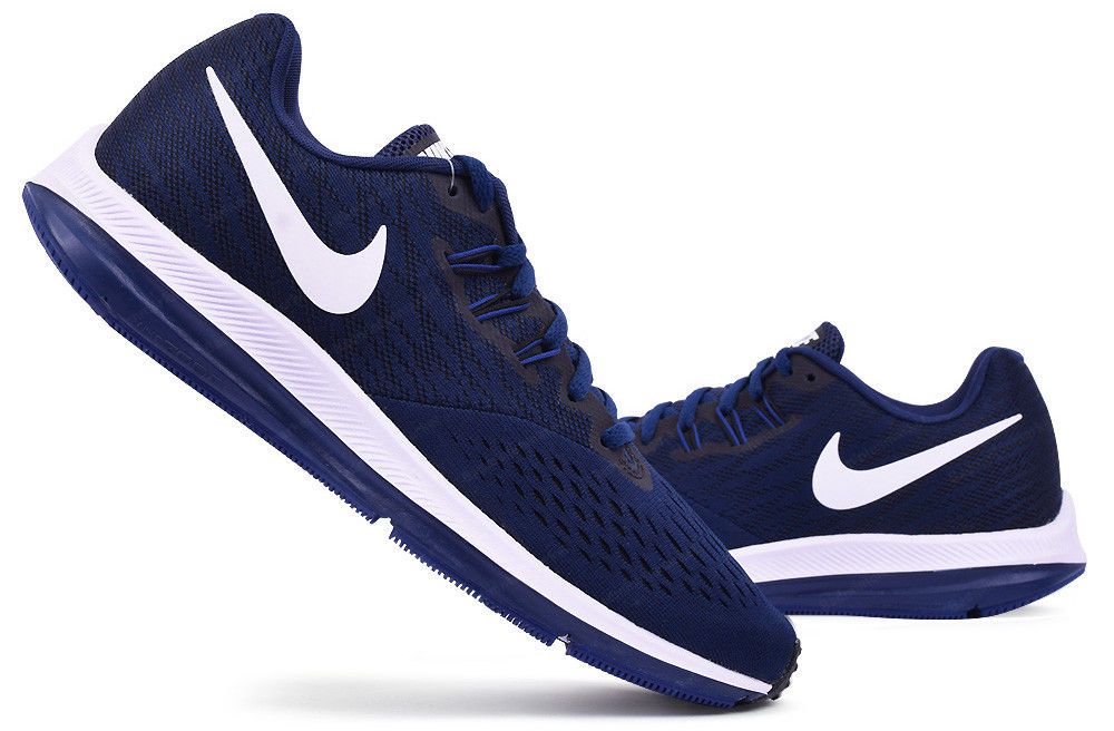 Nike Men Air Zoom Winflo 4 Shoes Running Navy Casual Sneakers Shoe 898466-400