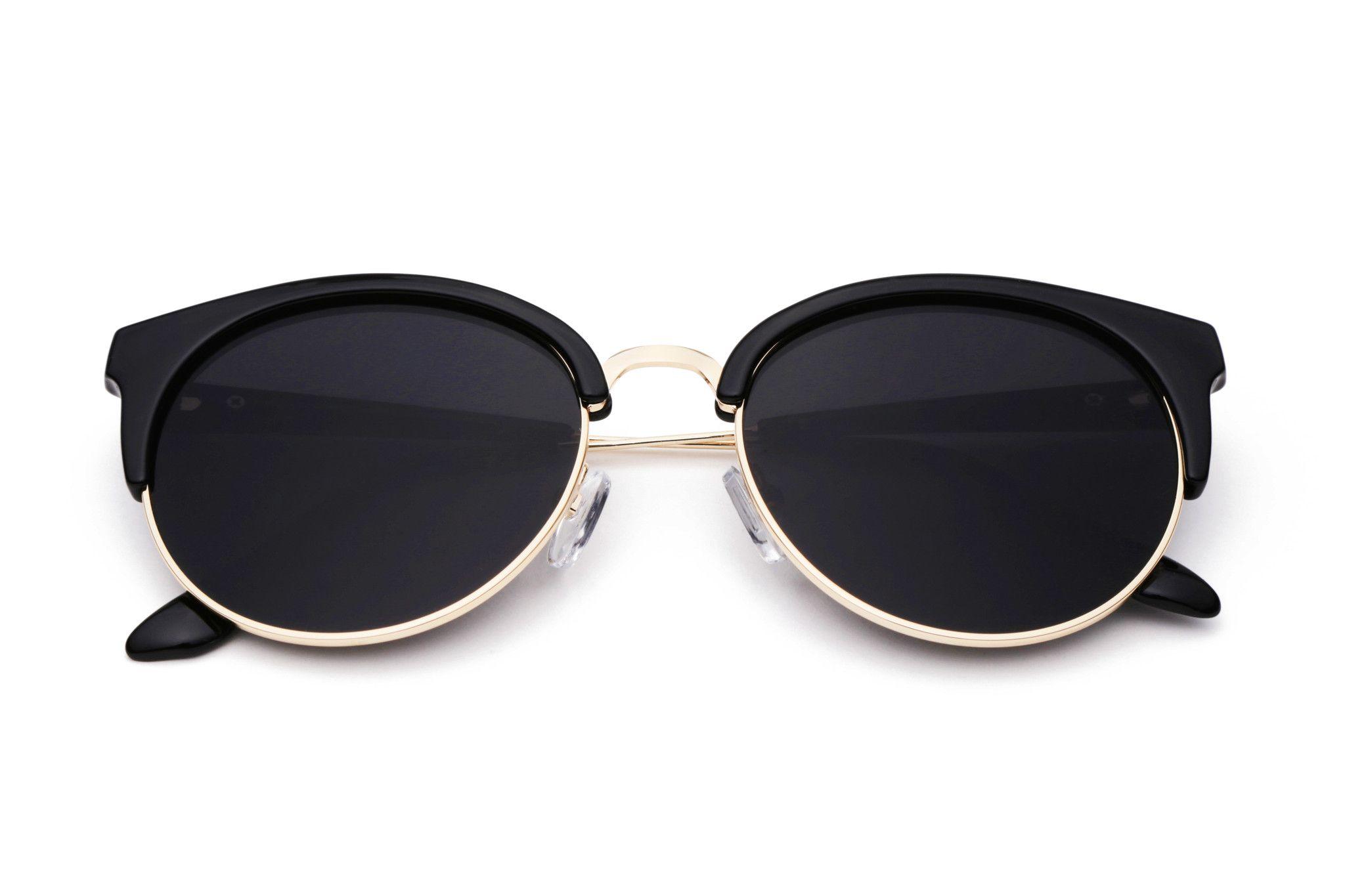 THE SPARK   Óculos de Sol grande Olho de Gato Vintage Redondo Fashion 430e727622