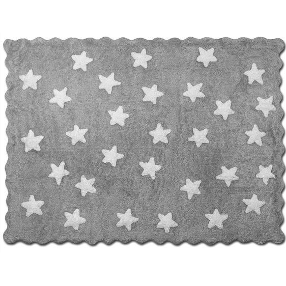 alfombra infantil eden gris lavable en lavadora algodon ...