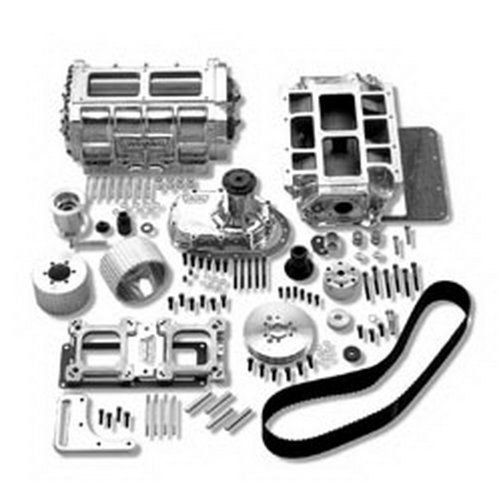 Roots Supercharger Kits: Weiand 7482P Supercharger Kit