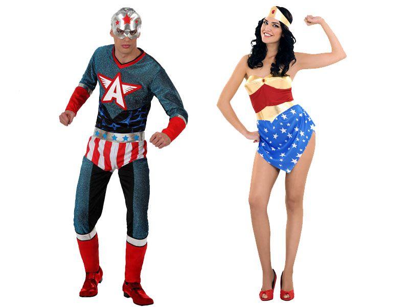 Pareja Disfraces De Super Heroes Parejas Disfraces Carnaval