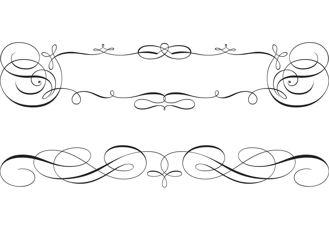 free swirly scroll frame and border vectors hand script vector flourishes png vector flourishes corner