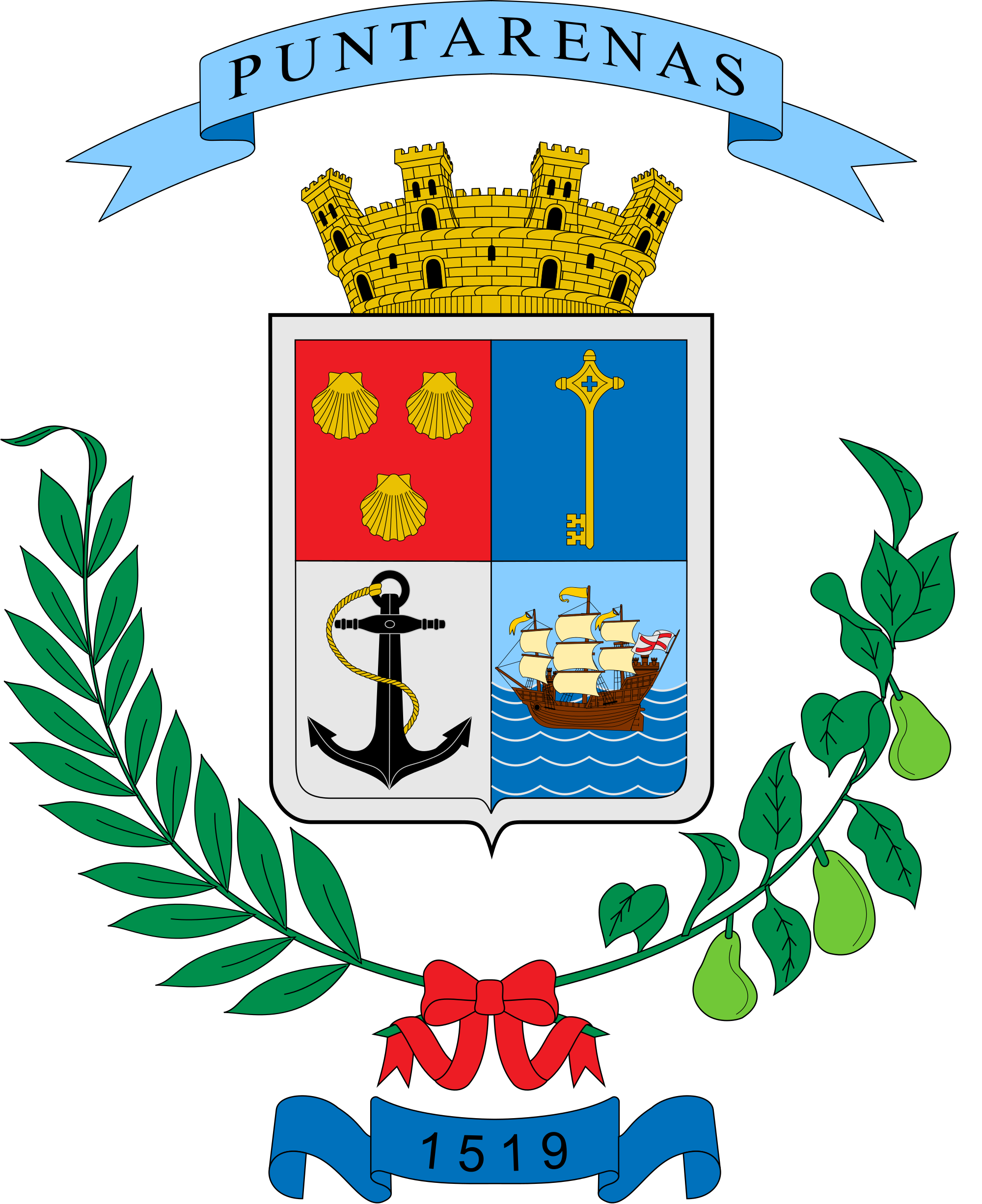 Pin By Mary Suarez On Coats Of Arms Puntarenas Coat Of Arms Province