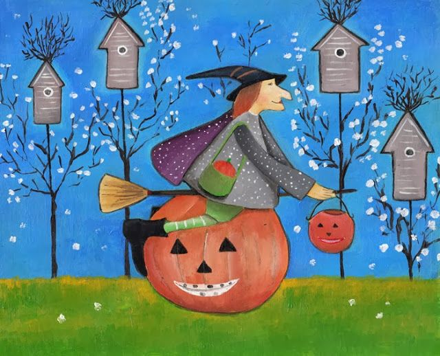 Garage of Halloween's pumpkin © Marikohandmade