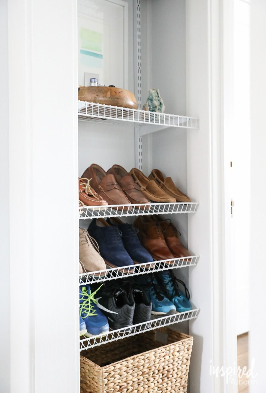 Diy Custom Shoe Storage How To Organize Your Shoes In An Unused Space Clothes Storage Organizer Diy Shoe Storage Diy Clothes Storage