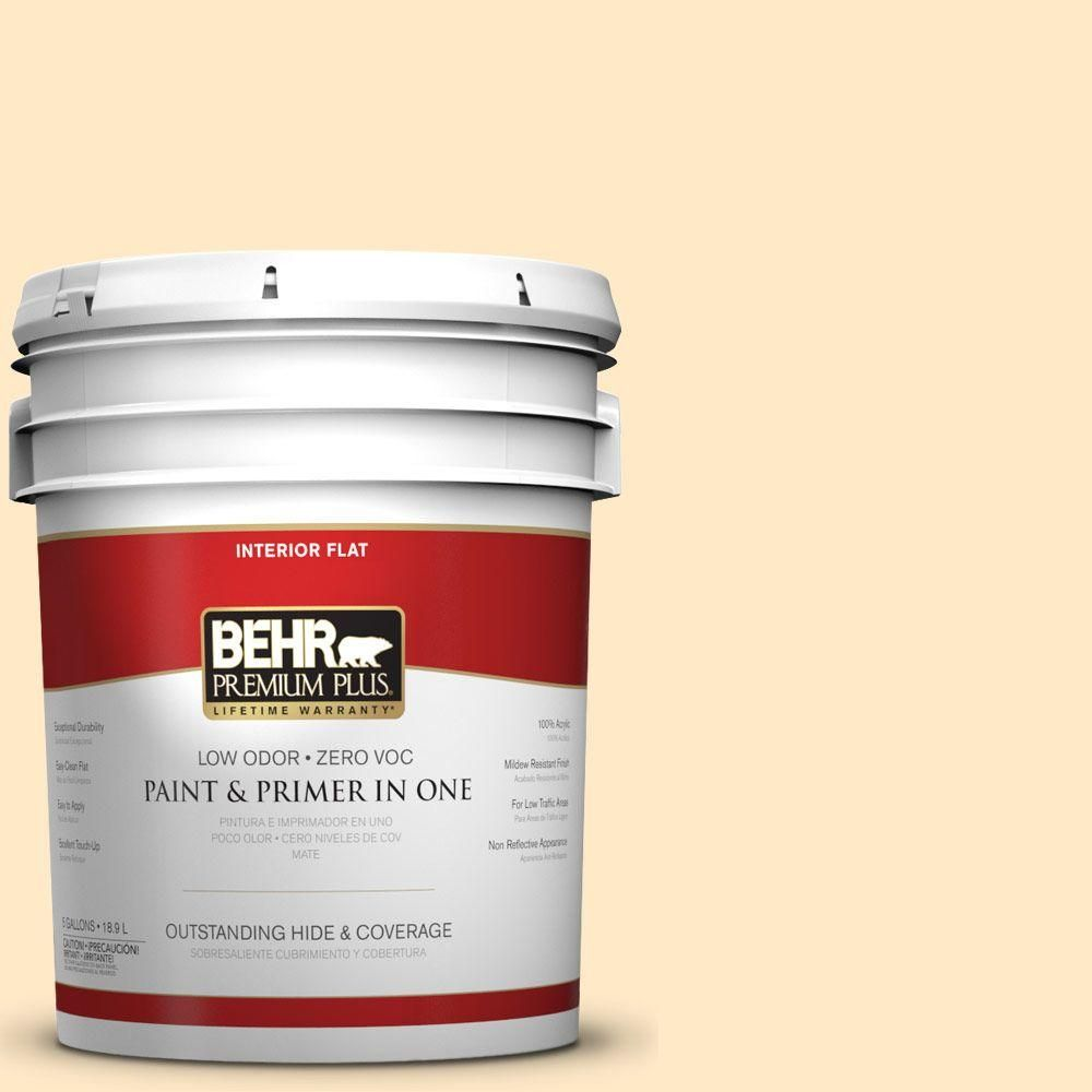 BEHR Premium Plus 5-gal. #P250-1 Papaya Sorbet Flat Interior Paint