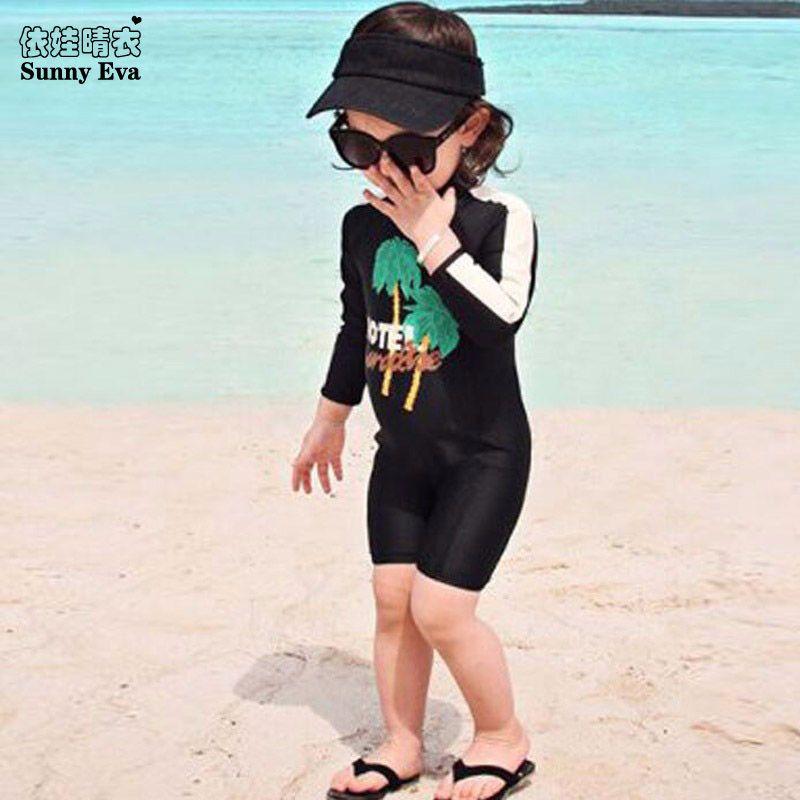 Sunny Eva Swimsuit Girl Black One Piece Bathing Suit Sexy Bathing