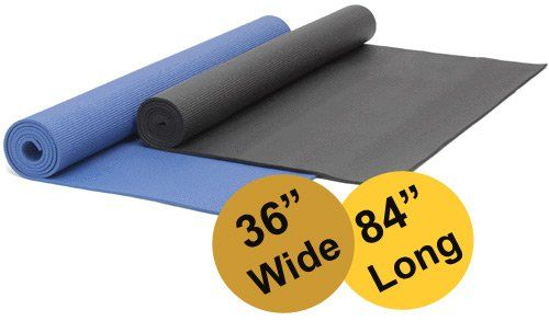 Yogaaccessories Tm Extra Wide Extra Long 1 4 Deluxe Yoga Mat Blue Extra Long Yoga Mat Yoga Accessories Colorful Yoga Mats