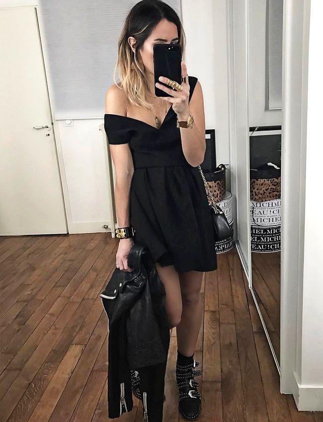 entre d gaine rock et minimalisme sexy chic cette tenue de soir e a tout bon photo audrey. Black Bedroom Furniture Sets. Home Design Ideas