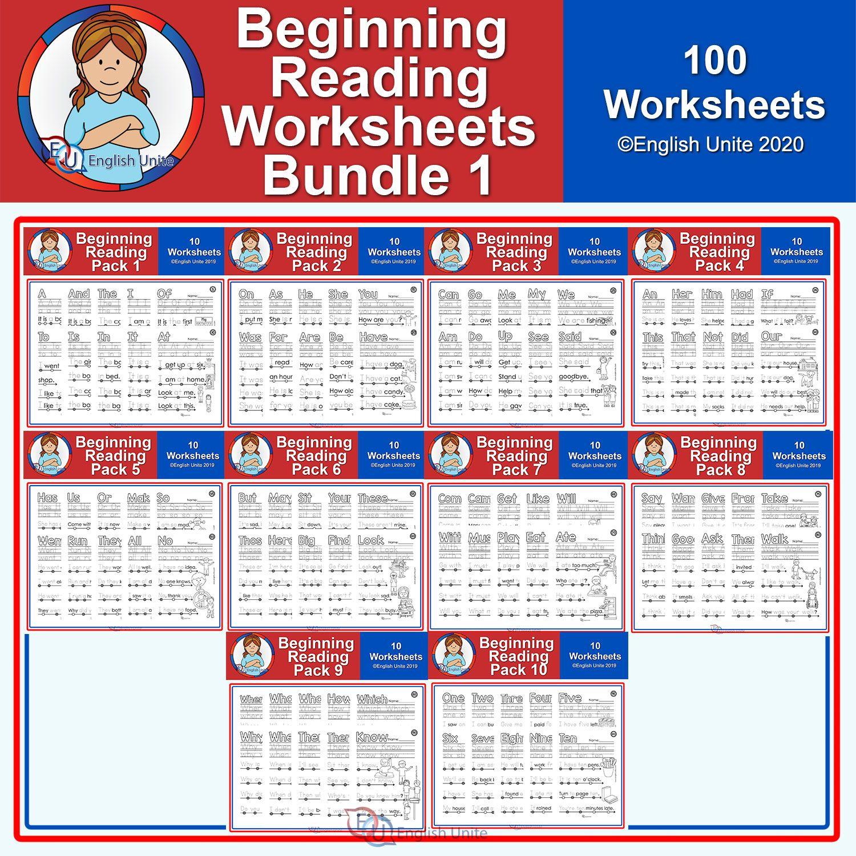 Beginning Reading Worksheet Bundle 1