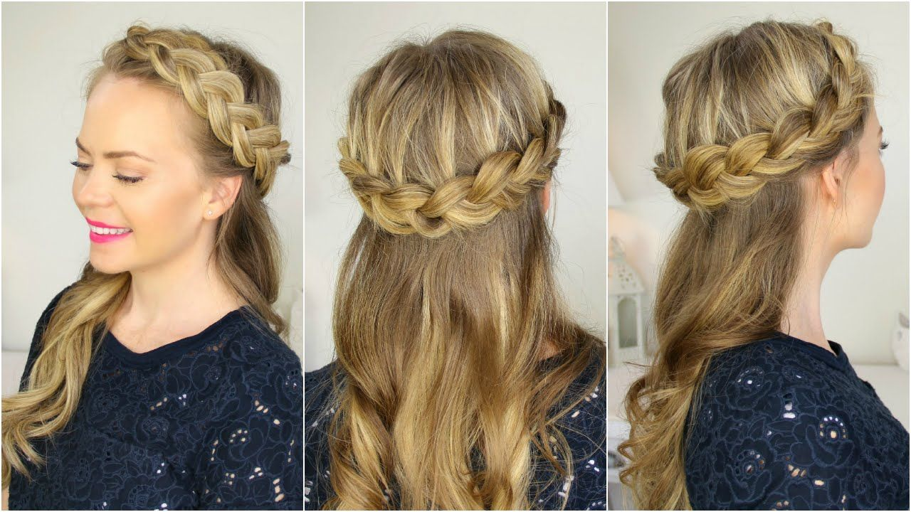Half Up Crown Braid Braided Crown Hairstyles Braided Hairstyles Easy Braided Hairstyles