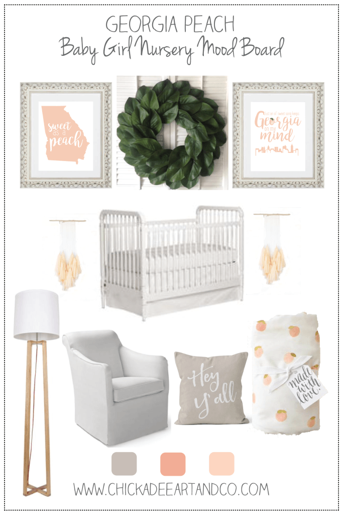 Such A Sweet And Southern Georgia Peach Themed Nursery This Decor Is So Perfect For Little