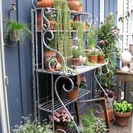 Bakers Rack Design Ideas Pictures Remodel And Decor Bakers Rack Decorating Diy Garden Projects Outdoor Bakers Rack
