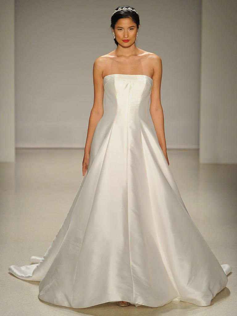 Alfred angelo springfall 2017 25 years of disney fairy tale alfred angelo modern mikado a line strapless wedding dress with tonal trapunto stitching for spring ombrellifo Image collections
