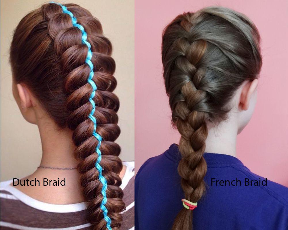 Dutch Braid Vs French Braid 2 Art Materials Pinterest Braids