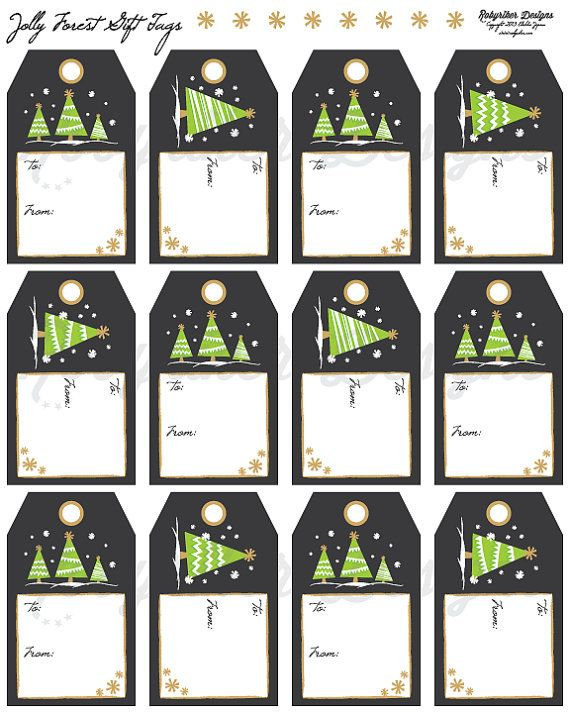 INSTANT DOWNLOAD Printable Christmas and Holiday Gift Tags by robyriker, $2.50