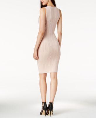 60cf3a104f8 Guess Gemma Mixed-Stitch Sleeveless Sweater Dress - Black XL