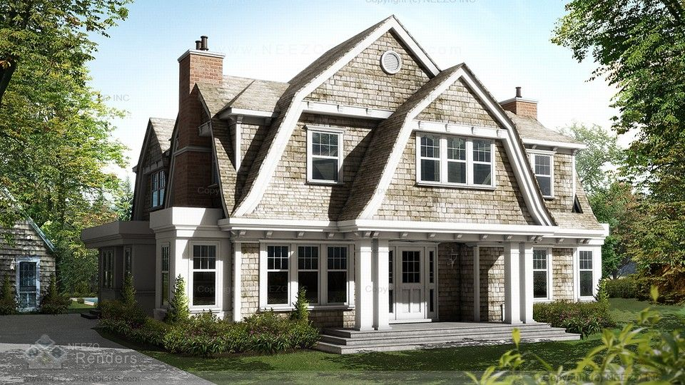 Houses with gambrel roof design home design and style for Gambrel cottage plans