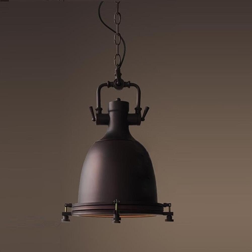 Buy vintage iron pendant light industrial loft retro droplight bar