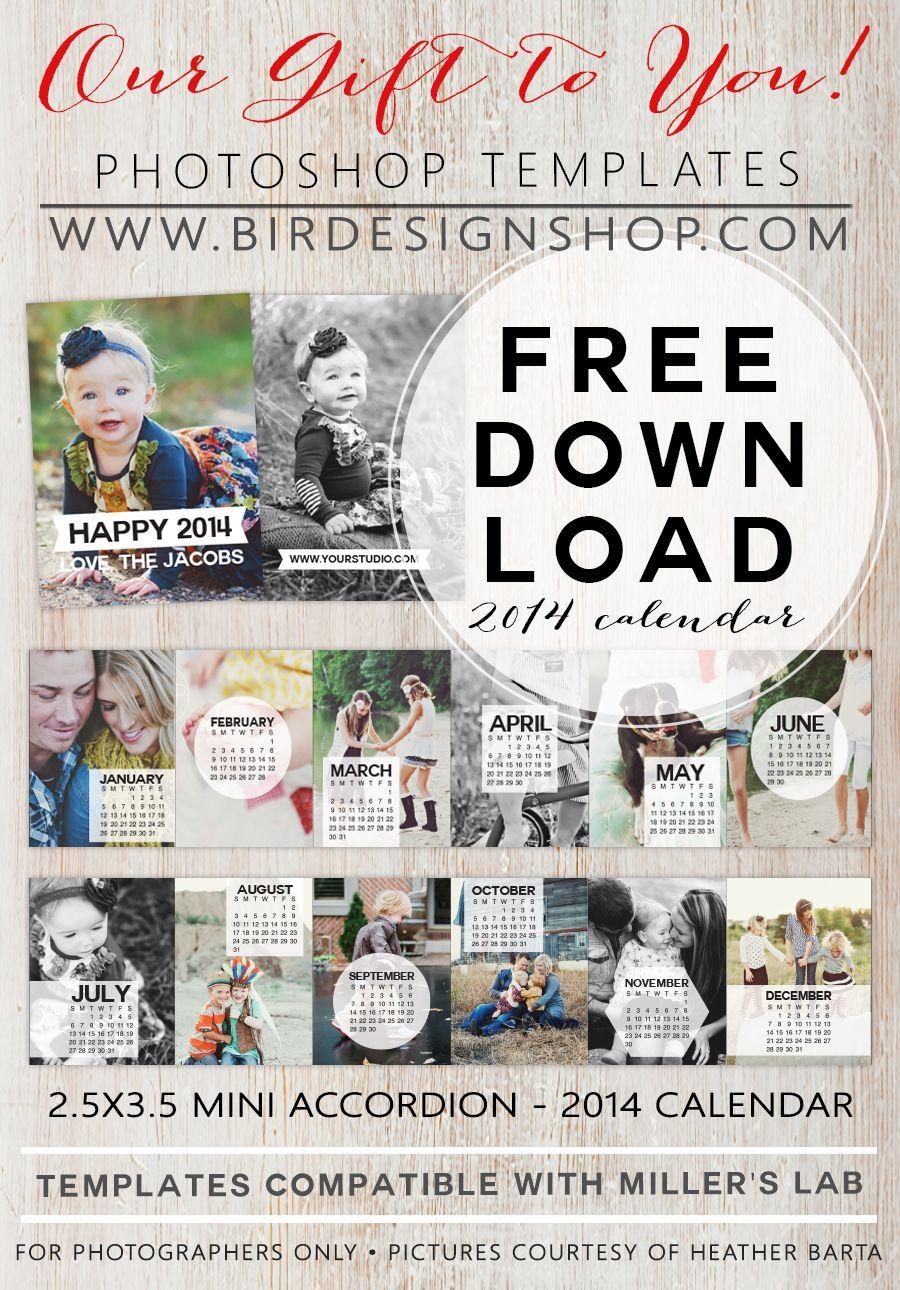December calendar freebie | Photoshop, Template and Photographers