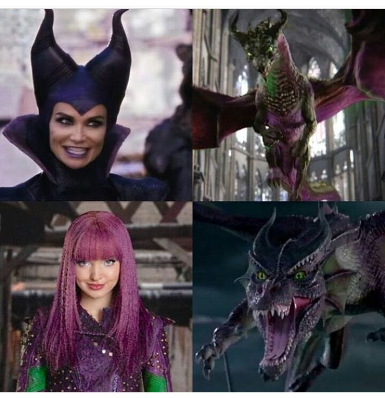 Maleficent And Her Daughter Mal I Love Both Of Them In
