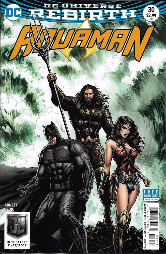 ee60e0b3791 DC Aquaman Universe Rebirth comic issue 30 Limited variant - Visit to grab  an amazing super hero shirt now on sale!