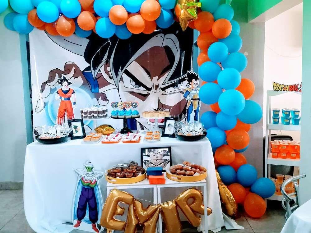 Dragon Ball Z Birthday Party Ideas Photo 4 Of 14 Beyblade Birthday Party Ball Birthday Parties Goku Birthday