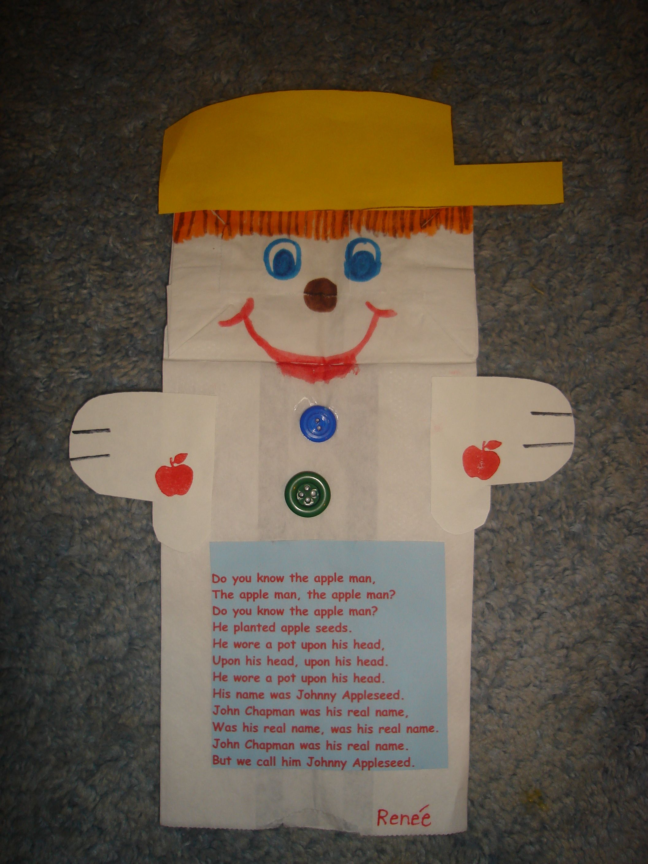 Johnny Appleseed Puppet Song Do You Know The Apple Man Amp Lots Of Apple Activities My