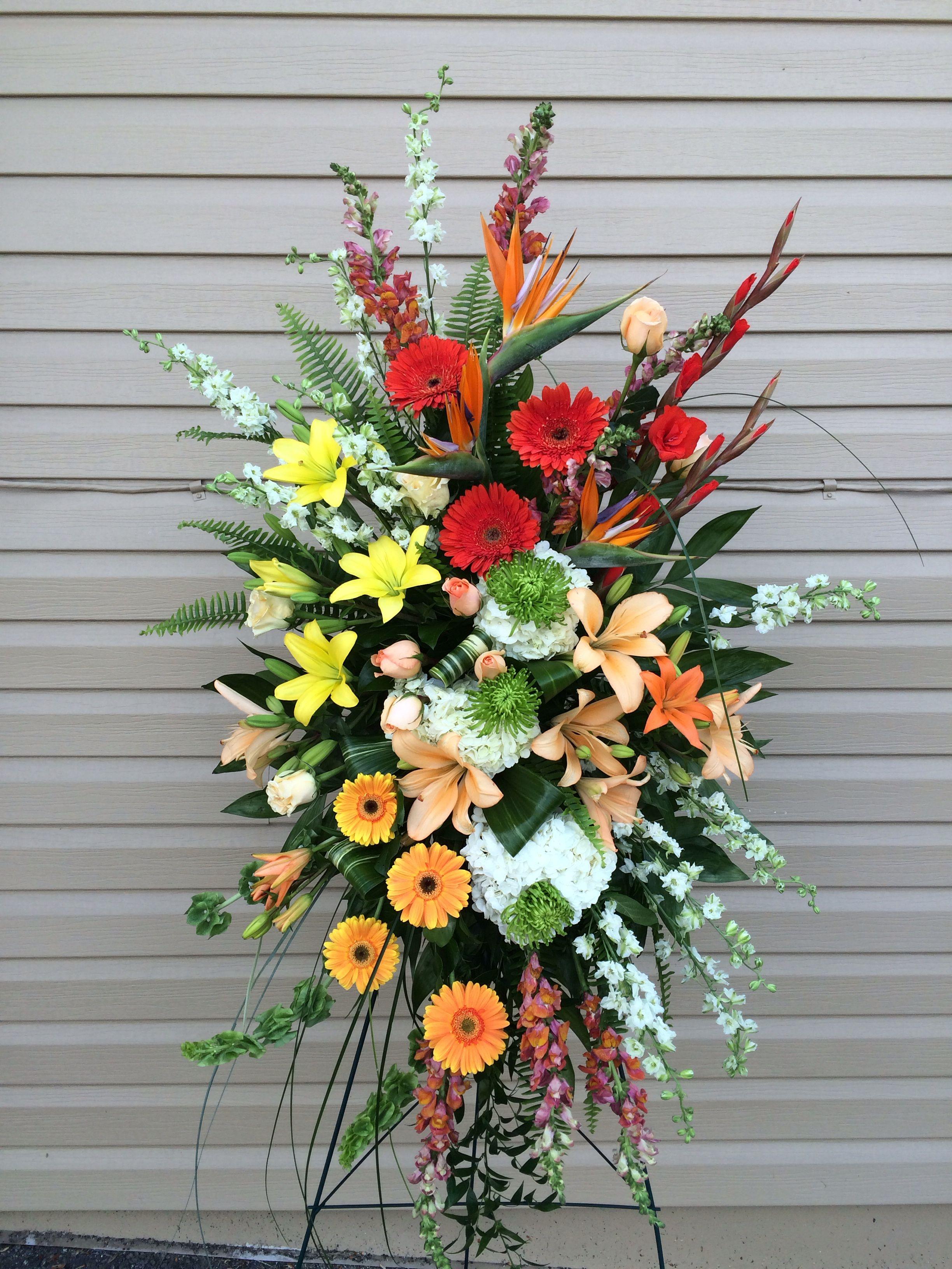 Sympathy spray funeral flowers tropical floralcreations funeral sympathy spray funeral flowers tropical floralcreations izmirmasajfo
